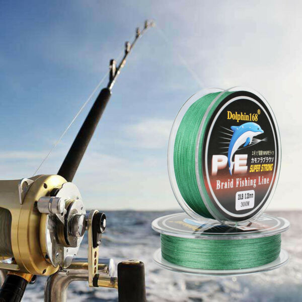 TOP 8 Strands 300M 8LB 20LB Fishing Braid Line Braided PE Fishing Line Green
