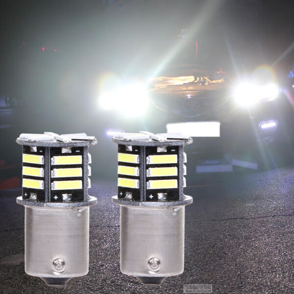 2pcs Canbus No Error White LED Tail Backup Reverse Light Bulb BA15S 1156 7506