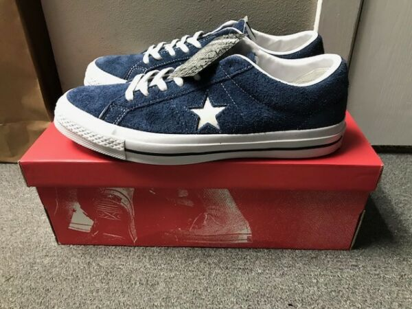 Converse One Star Ox Premium Suede Low Top Navy/White U Pick Size 158371c New