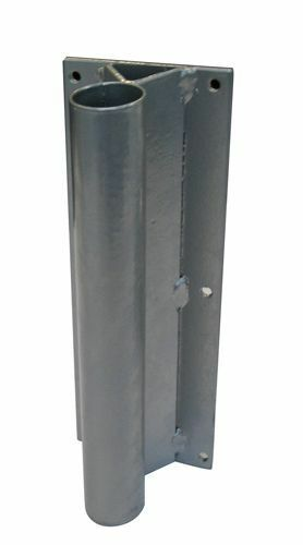 STRAIGHT WALL MOUNT Base for WINDLESS Swooper Pole Feather Flag f