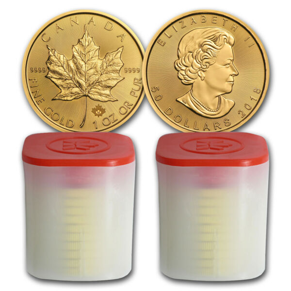Bank Wire Payment. 2018 Canada 1 oz Gold Maple Leaf BU (Lot of 20) - SKU #162743