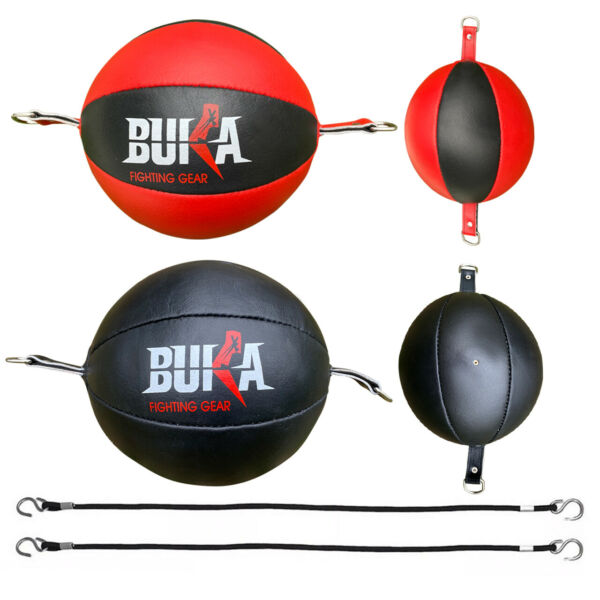 BUKA ®Leather Double End Bag Boxing Floor to Ceiling Speed Ball Punching Bag MMA $24.99