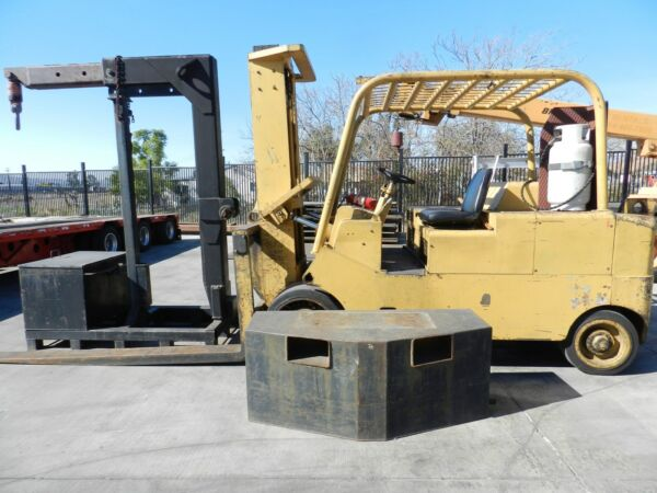 30K Caterpillar Forklift(Model T300) wcounterweights boom stand and job box.