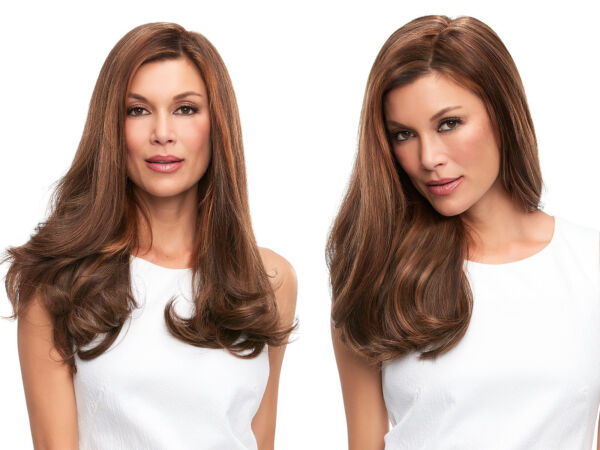 Top Full 18 Premium Remy Human Hair Double Mono Hand Tied Jon Renau Clip-in-Ext