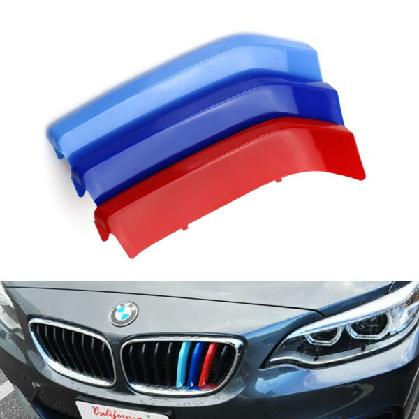 M-Color Grille Insert Trims For 2014-up BMW 2 Series w 8-Beam Black Grill