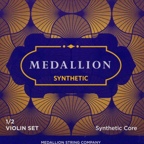 Medallion 12 Violin String Set - Synthetic Core - Medium - Removable Ball End E