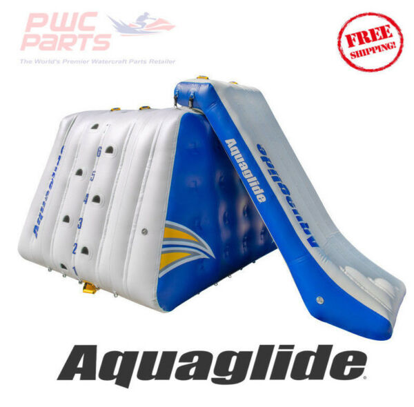 AQUAGLIDE KING OF THE MOUNTAIN Play Station Float Pool Slide Lake Toy 58-5216635