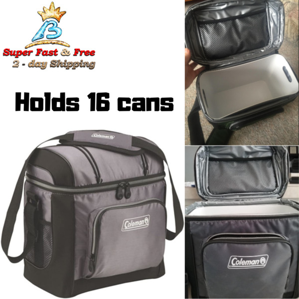 Tote Lunch Box Pail Bag Picnic Camping Soft Outdoor Cooler With Hard Liner