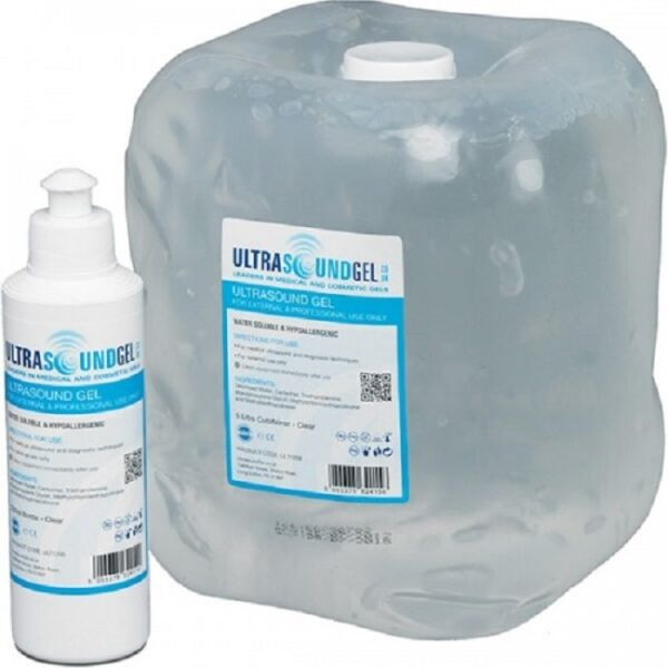 CLEAR Ultrasound Gel 5 LITER Jug with a Dispenser Bottle NIB Factory Sealed