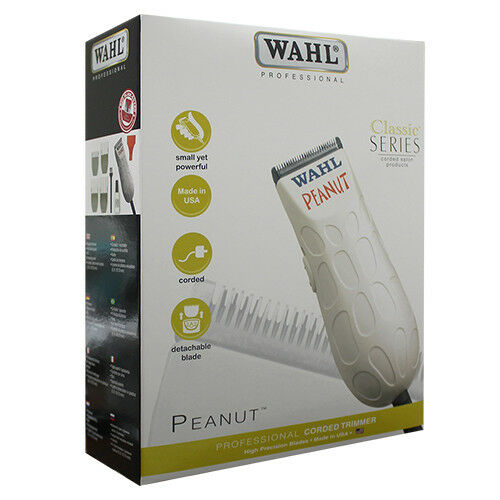 Wahl Professional 8655 Classic Series Peanut Corded Salon Trimmer White