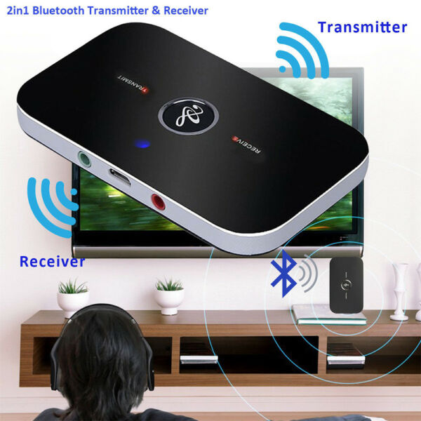 HIFI Wireless Bluetooth Audio Transmitter Receiver 3.5MM RCA Music 2in 1 Adapter