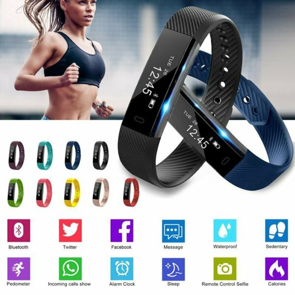 Bluetooth Smart Watch Bracelet Wristband Pedometer Sport Fitness Sleep Tracker