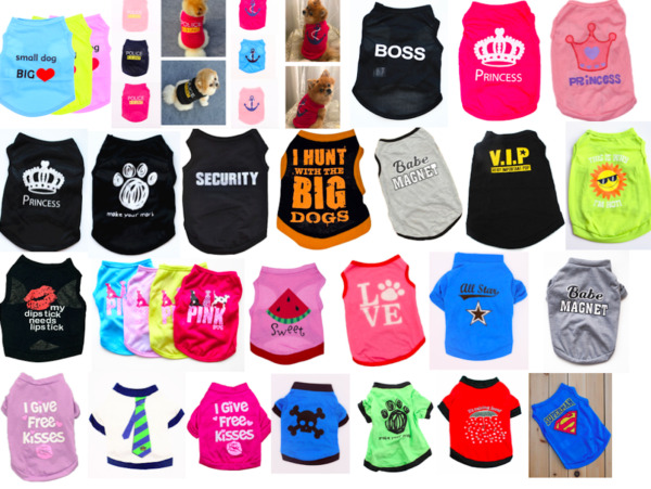 Various Pet Puppy Small Dog Cat Pet Clothes Dress Vest T Shirt Apparel Clothes $7.99