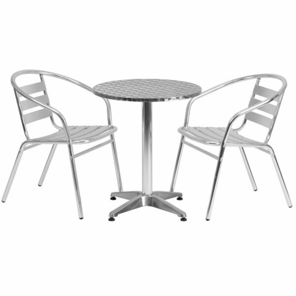 Bowery Hill 3 Piece Round Patio Bistro Set in Aluminum $223.65