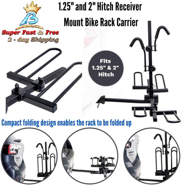 Compact Bike Cradle Folding Tray Bicycle Carrier Foldable Car Hitch Mount Rack $255.09