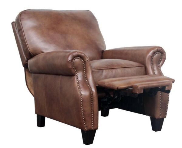 Barcalounger Briarwood II Genuine Wenlock Tawny All Leather Recliner Chair