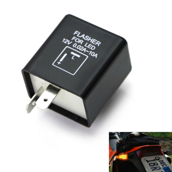 2 Pin Electronic LED Flasher Relay Fix For Turn Signal Light Fast Hyper Flash $8.79
