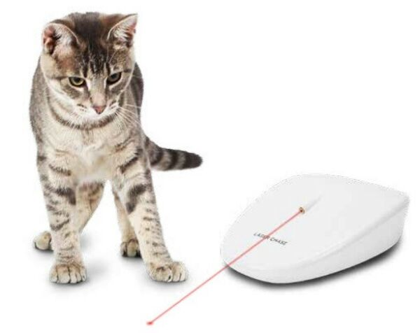 PetSafe LaserTail Mobile Interactive Light Cat Toy Automatic Moves On Floor