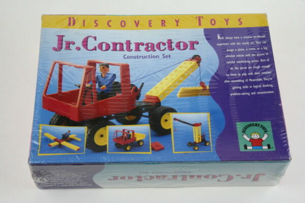 Jr Contractor Construction Set Building Toy - 1997 Discovery Toys 3262 - NEW