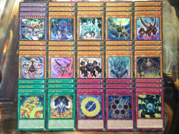 Yugioh Tournament Ready To Play Budget Cubic 45 card Deck ALL FOIL Ultra Rare NM