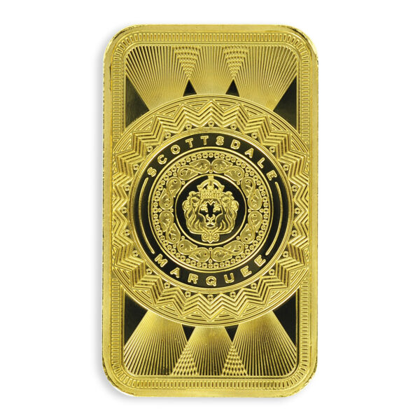 SPECIAL PRICE! 1 oz .9999 Gold Bar Scottsdale Marquee in Certi-Lock #A453