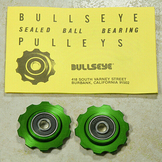 Bullseye Pulleys NOS *GREEN* For Vintage Campy Shimano Suntour & Others