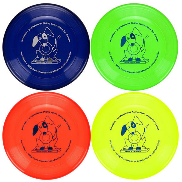Eurodisc 135g Puncture Resistant Dog Frisbee Durable Dog Disc Toss N Fetch Disc