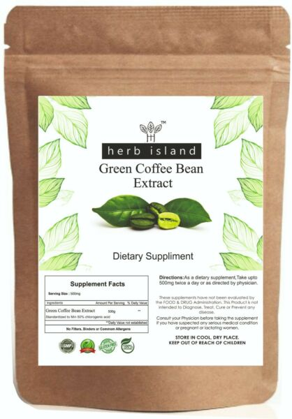 Green Coffee Bean Extract Powder 50% Chlorogenic Acid For Weight Loss and Energy