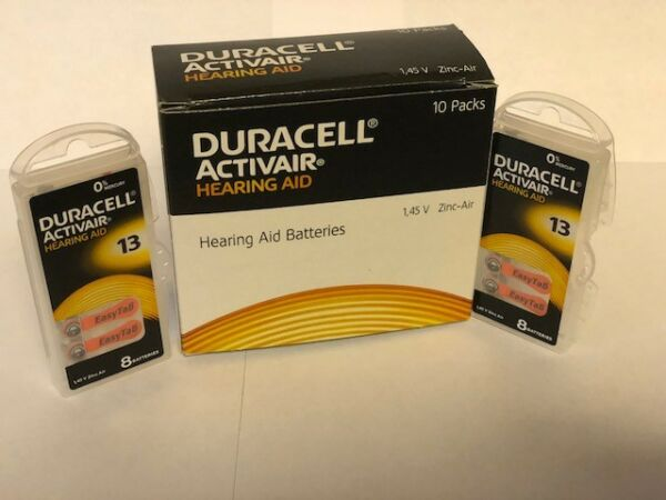 Duracell Activair Mercury Free Hearing Aid Batteries Size 13 16 160 Exp 2024 $25.99