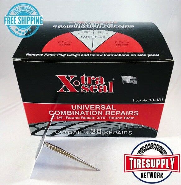 Xtra Seal 13-381 Universal Patch Plug Combination Tire Repair 31 Inc.  (20 pc)