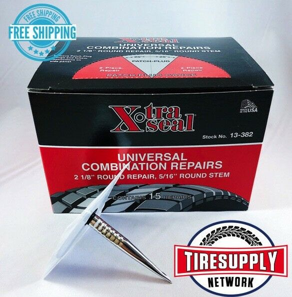 XtraSeal 13-382 Universal Patch Plug Combination Tire Repair 31 Inc. (Box of 15)