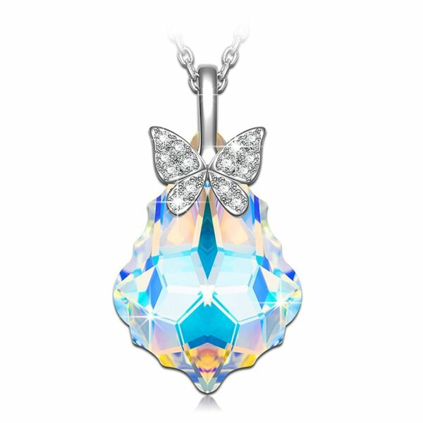 [BIRTHDAY GIFTS FOR WIFE GIRLFRIEND MOM] BUTTERFLY REBIRTH CRYSTAL NECKLACE