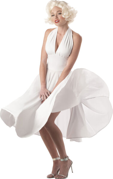 Marilyn Sexy Women Adult Costume Classic White Fancy Dress California Costumes $28.95