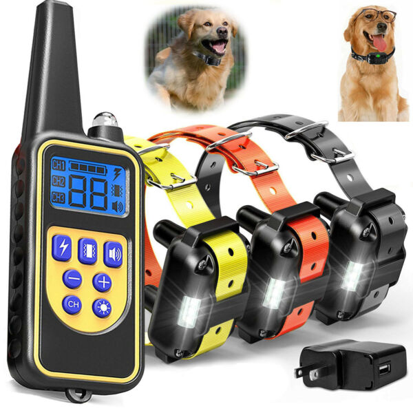 Outdoor Wireless Dog Training Shock Collar Pet Electric Trainer System Remote $38.60