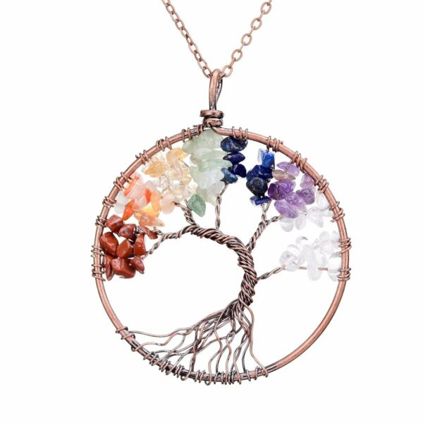 [BIRTHDAY GIFTS FOR WIFE GIRLFRIEND WOMEN MOM] TREE ROSE CRYSTAL NECKLACE