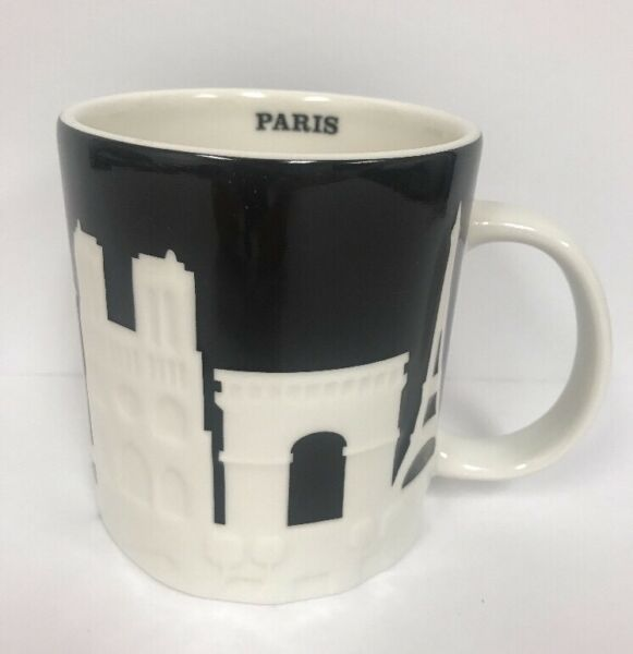 Starbucks Paris Coffee Mug Relief City Collector Series France 16 oz. New