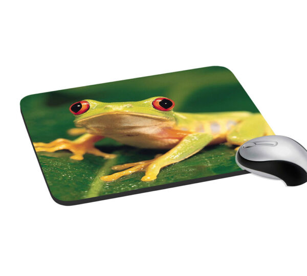 Frog Desktop PC Mouse Pad With Wrist Support Rest Mice Mat 7.2x8