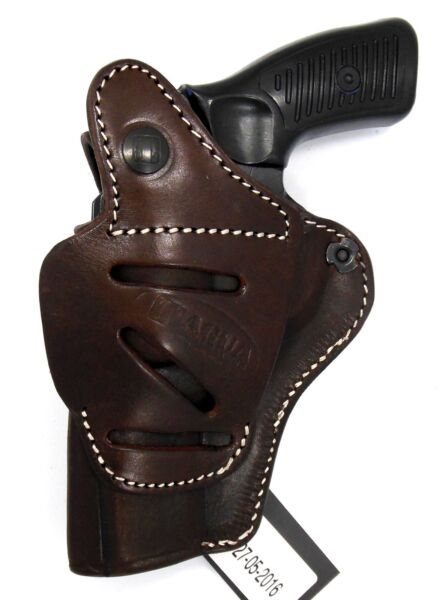 TAGUA Brown Leather 4 in 1 OWB IWB Thumb Break Holster RUGER SP101 REVOLVER 3quot;