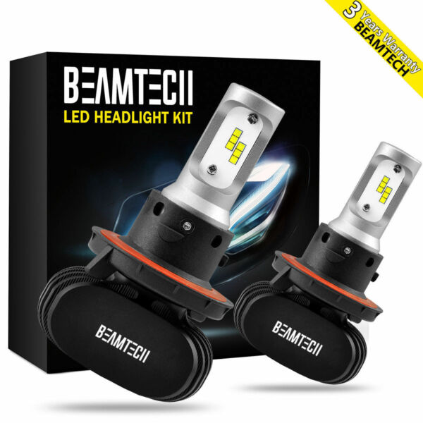 2xH13 LED Headlight Bulbs Lights for Dodge Ram 15002500 2006-2010 High Low Beam