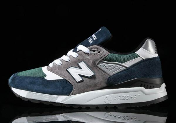 New Balance 998 Made in Usa Blue Green Lifestyle Sneakers Men 2018 Gym M998NL