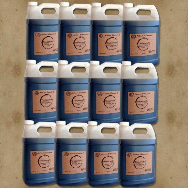 Acid stain for concrete pack of 12 bulk lot 10 acid stain colors 12 gallons