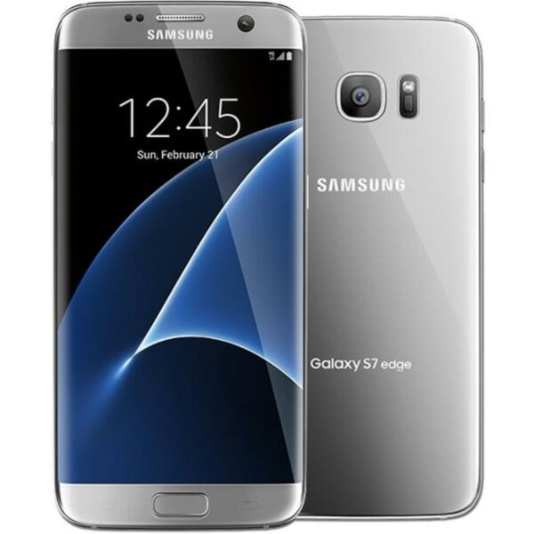 Samsung Galaxy S7 Edge, G935T, Silver (GSM Unlocked; AT&T / T-Mobile) Smartphone