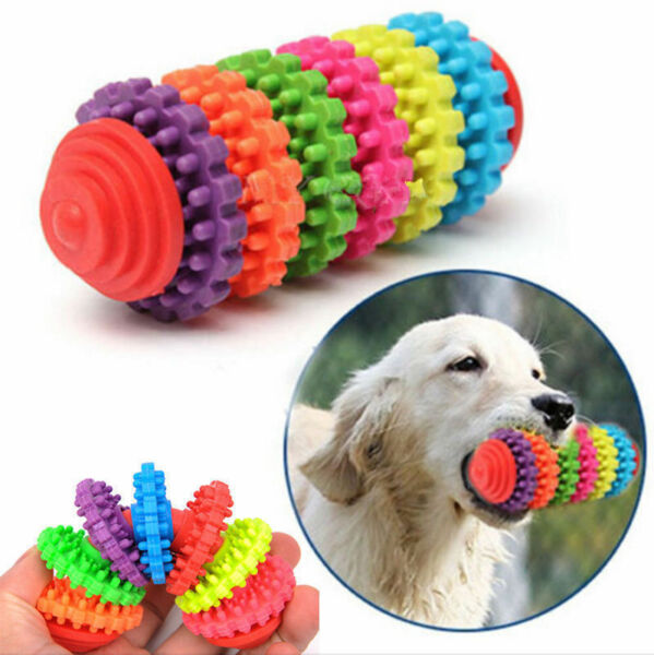 Durable Rubber Pet Dog Puppy Cat Dental Teething Healthy Teeth Gums Chew Toys