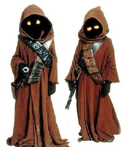 STAR WARS Jawa Costume Eyes Orange or Yellow onoff switch your choice