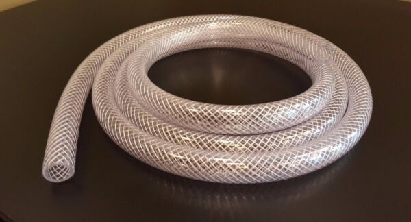 Any Size Clear PVC Reinforced Flexible Braided Vinyl TubeHose 316