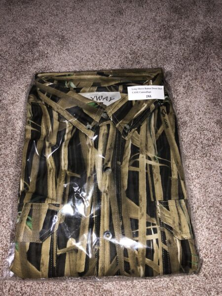 Flyway87 Vertical Camo Systems Long Sleeve Hunting Shirt and Cap Super Combo XL