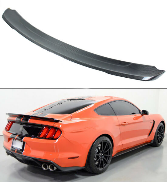 For 2015-17 Ford Mustang GT350 Track Pack Style Carbon Fiber Trunk Spoiler Wing