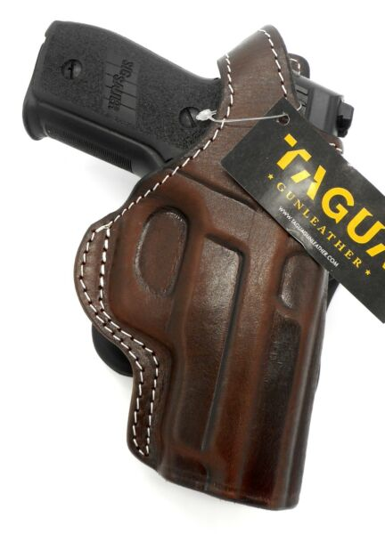 TAGUA PREMIUM Brown Leather Thumb Break Roto PADDLE Holster for SIG P228 P229