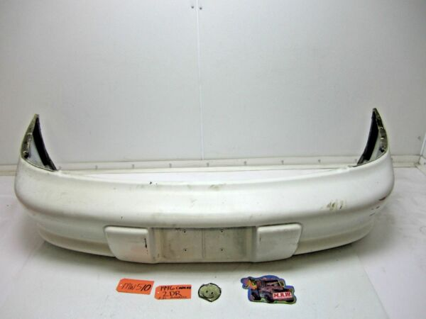 BACK REAR BUMPER COVER WHITE REINFORCEMENT FRAME BAR BEAM CAR OEM 95-99 CAVALIER