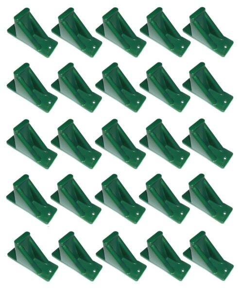 Green Plastic Mini Roof Snow Ice Guard 25 Pack Prevent Sliding Snow Buildup $29.25